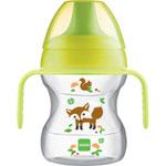 Tasse d'apprentissage 6-12 mois bec souple vert décoré 190 ml pas cher