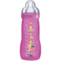 Biberon 330ml cirque rose tétine debit x