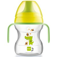 Tasse d'apprentissage 6-12 mois bec souple vert 190 ml