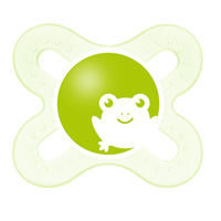 Sucette silicone 0-2 mois + boite de sterilisation grenouille