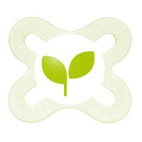 Sucette naissance silicone 0-2 mois + boite de sterilisation feuille