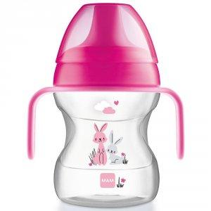 Tasse d'apprentissage 6-12 mois bec souple rose 190 ml