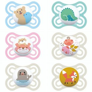 Lot de 2 sucettes perfect 0-6 mois silicone fille