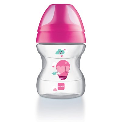 Tasse d'apprentissage 6-12 mois bec souple rose 190 ml Mam