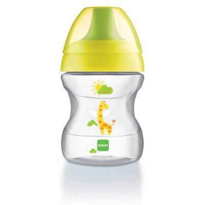 Tasse d'apprentissage 6-12 mois bec souple vert 190 ml Mam