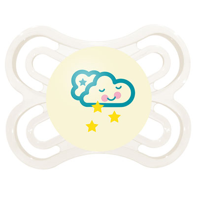Sucette perfect nuit 0-6 mois silicone nuage Mam