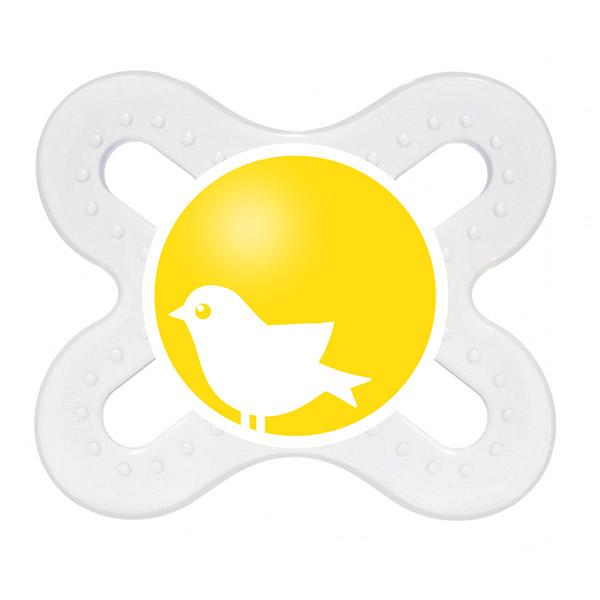 Sucette silicone 0-2 mois + boite de sterilisation oiseau Mam