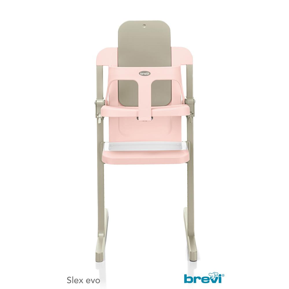 chaise haute b b slex evo rose de brevi en vente chez cdm. Black Bedroom Furniture Sets. Home Design Ideas