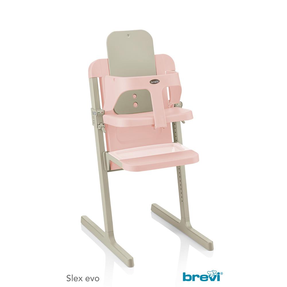chaise haute b b slex evo rose de brevi sur allob b. Black Bedroom Furniture Sets. Home Design Ideas