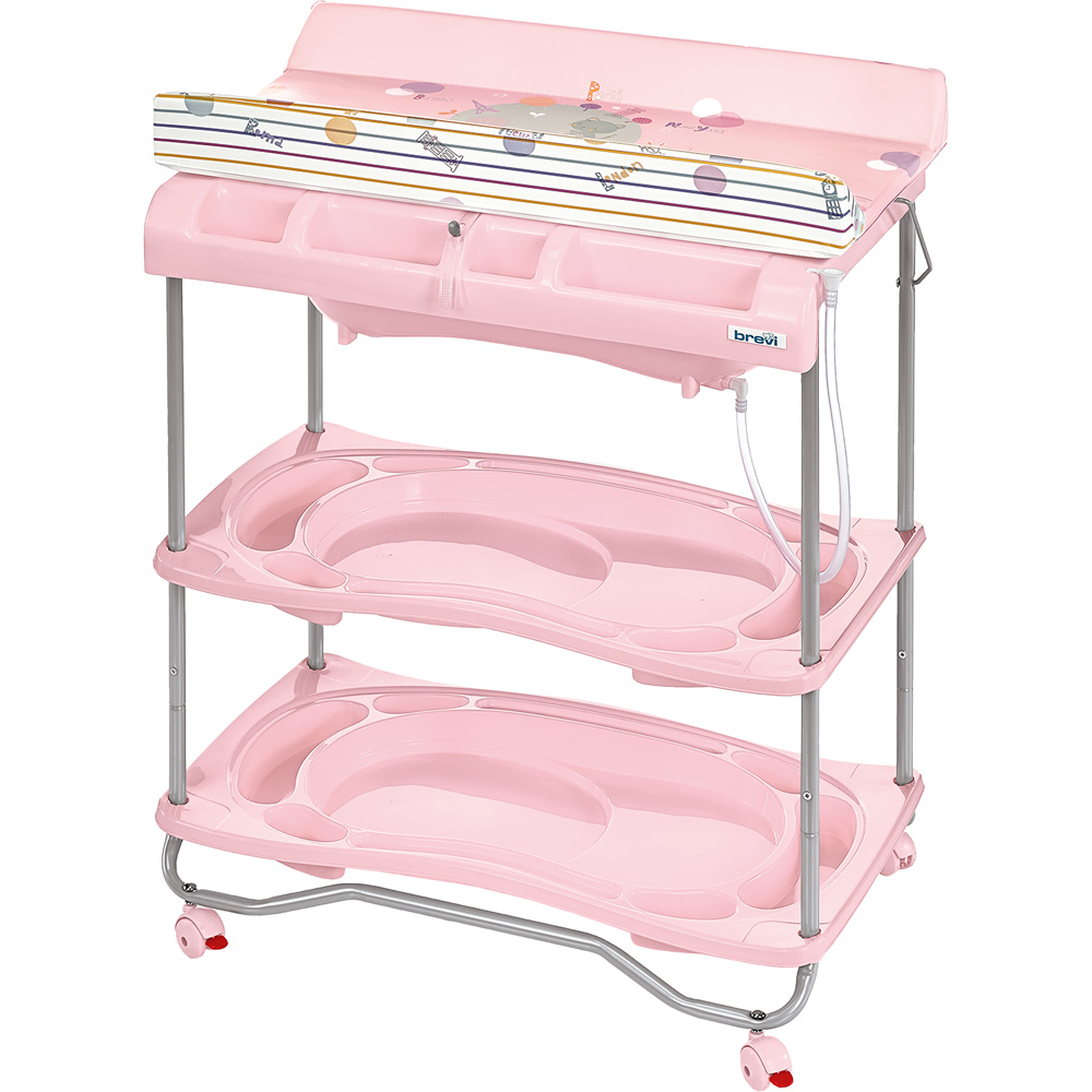 Table langer atlantis avec baignoire voyage rose 40 for Table a langer atlantis