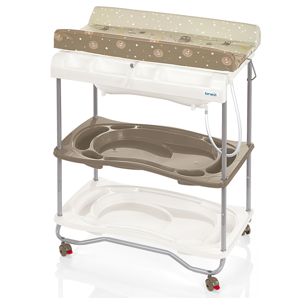 Table langer atlantis avec baignoire moka 40 sur allob b for Table a langer atlantis