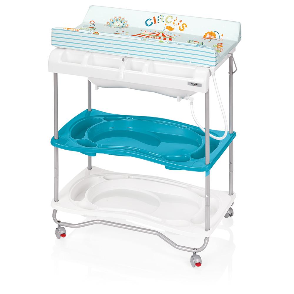 Table langer atlantis avec baignoire circus turquoise for Table a langer atlantis