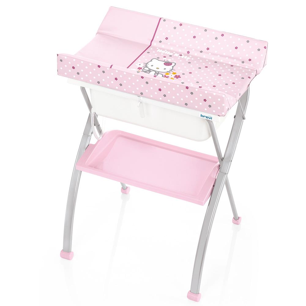 Table langer avec baignoire lindo collection hello kitty for Table a langer pour baignoire