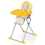 Chaise haute bébé extra pliante junior voyage jaune pas cher