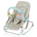 Transat bébé babyrocker soft toy avec jeu souple gris pas cher