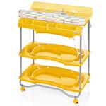 Table à langer atlantis avec baignoire voyage jaune pas cher