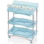 Table à langer atlantis avec baignoire voyage bleu pas cher