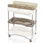 Table à langer atlantis avec baignoire moka pas cher