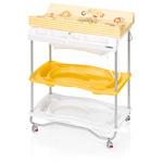 Table à langer atlantis avec baignoire circus jaune pas cher