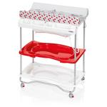 Table à langer atlantis avec baignoire youpi rouge pas cher