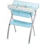 Table à langer avec baignoire lindo voyage bleu pas cher