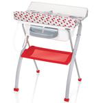 Table à langer avec baignoire lindo youpi rouge pas cher