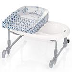 Combiné baignoire table à langer bagnotime reversible youpi bleu pas cher