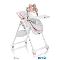 Chaise haute bébé 2 en 1 b fun rose