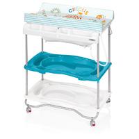 Table à langer atlantis avec baignoire circus turquoise