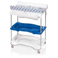 Table à langer atlantis avec baignoire youpi bleu