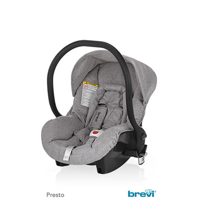 Coque bébé smart adaptable presto city gris chine - groupe 0+ Brevi