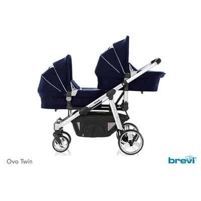 Nacelle bébé pour la poussette ovo twin marine Brevi