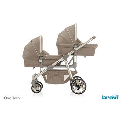 Nacelle bébé pour la poussette ovo twin tortora Brevi