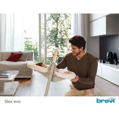 Nacelle transat + arceau de jeux pour chaise haute evo slex beige Brevi