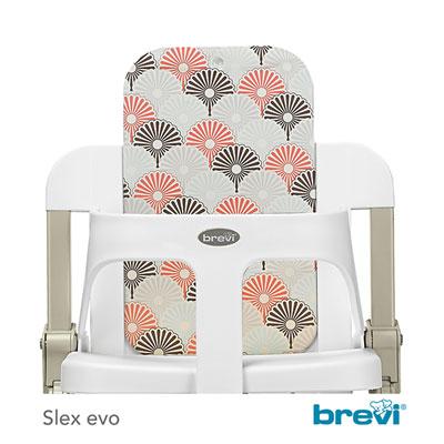 Kit dossier + set de tablette pour la chaise slex evo palmito Brevi