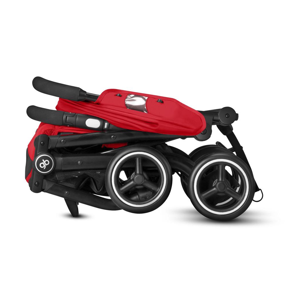poussette 4 roues qbit tout terrain rose red red de gb. Black Bedroom Furniture Sets. Home Design Ideas