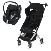 Pack poussette duo pockit + city avec artio satin black/fashion edition velvet black