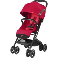 Poussette 4 roues qbit + cherry red/red