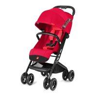 Poussette 4 roues qbit + tout terrain rose red/red