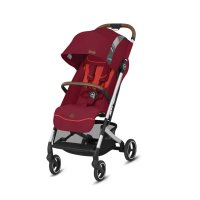 Poussette 4 roues qbit + city fashion edition rose red