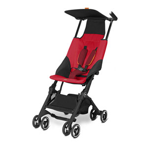 Poussette canne pockit red