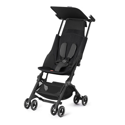 Poussette canne pockit + monument black/black Gb