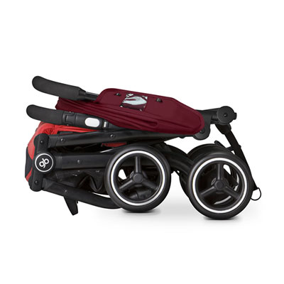 Poussette 4 roues qbit + dragonfire red/red Gb