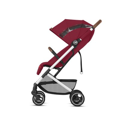 Poussette 4 roues qbit + city fashion edition rose red Gb
