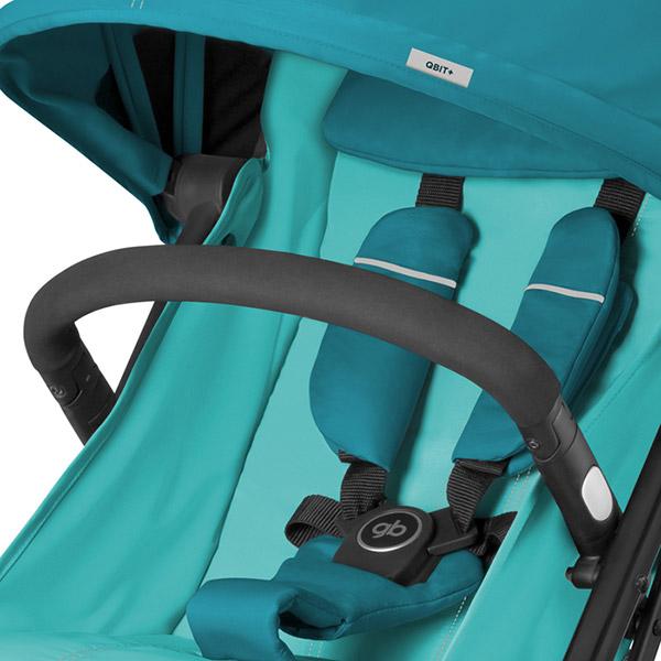 poussette 4 roues qbit capri blue turquoise sur allob b. Black Bedroom Furniture Sets. Home Design Ideas
