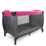 Lit parapluie luxe gris/rose pas cher
