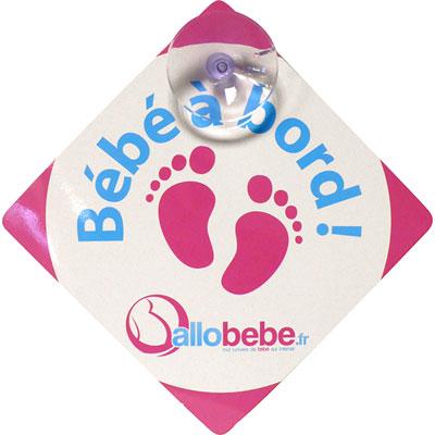 Signalétique bébé à bord Allobebe