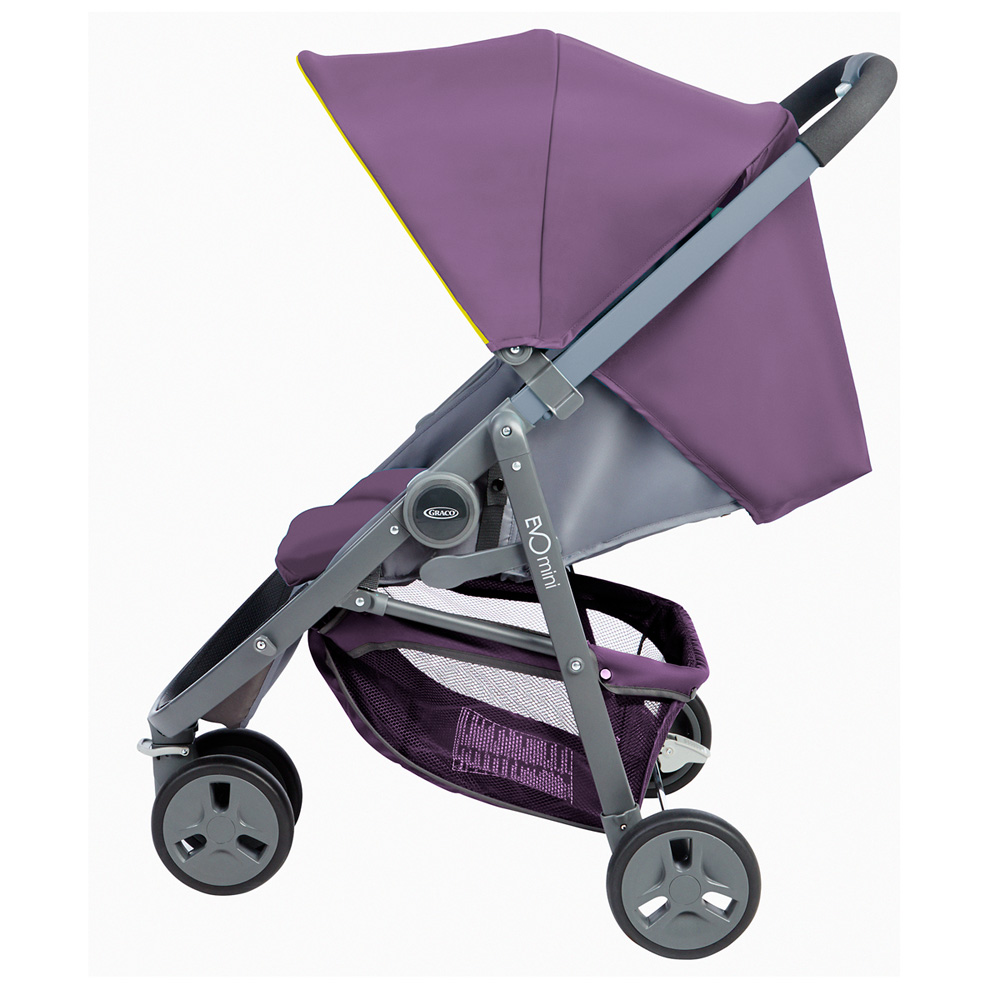 poussette 3 roues evo mini violet de graco sur allob b. Black Bedroom Furniture Sets. Home Design Ideas
