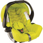 Siège auto coque junior baby lime zigzag - groupe 0+ pas cher