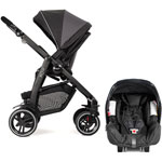 Pack poussette duo evo xt + junior baby rock pas cher